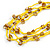 Long Multistrand Yellow Shell/ Glass Bead Necklace - 76cm L - view 4