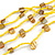 Long Multistrand Yellow Shell/ Glass Bead Necklace - 76cm L - view 5
