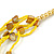 Long Multistrand Yellow Shell/ Glass Bead Necklace - 76cm L - view 6