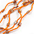 Long Multistrand Orange Shell/ Glass Bead Necklace - 76cm L - view 5
