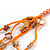 Long Multistrand Orange Shell/ Glass Bead Necklace - 76cm L - view 6