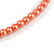 Long Multistrand Orange Shell/ Glass Bead Necklace - 76cm L - view 7