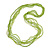 Multistrand Salad Green Glass Bead Necklace - 70cm Long