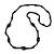 Black Glass/ Ceramic Bead Long Necklace - 80cm Long
