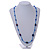 Blue Glass/ Ceramic Bead Long Necklace - 84cm Long - view 2