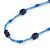 Blue Glass/ Ceramic Bead Long Necklace - 84cm Long - view 4