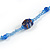 Blue Glass/ Ceramic Bead Long Necklace - 84cm Long - view 5