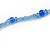 Blue Glass/ Ceramic Bead Long Necklace - 84cm Long - view 6