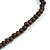 Statement Multistrand Light Blue Glass Bead, Brown Wood Bead Necklace - 110cm L - view 6