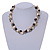 Exquisite Cream/ Black Faux Pearl & Antique White Shell Composite, Silver Tone Link Necklace - 44cm L/ 7cm Ext - view 3