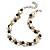 Exquisite Cream/ Black Faux Pearl & Antique White Shell Composite, Silver Tone Link Necklace - 44cm L/ 7cm Ext - view 2