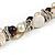 Exquisite Cream/ Black Faux Pearl & Antique White Shell Composite, Silver Tone Link Necklace - 44cm L/ 7cm Ext - view 4