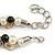 Exquisite Cream/ Black Faux Pearl & Antique White Shell Composite, Silver Tone Link Necklace - 44cm L/ 7cm Ext - view 6