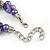Exquisite Faux Pearl & Shell Composite Silver Tone Link Necklace In Purple - 44cm L/ 7cm Ext - view 6
