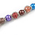 Multicoloured Glass Bead with Silver Tone Metal Wire Element Necklace - 64cm L/ 4cm Ext - view 4