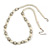 Cream Glass Bead with Silver Tone Metal Wire Element Necklace - 64cm L/ 4cm Ext - view 3