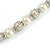 Cream Glass Bead with Silver Tone Metal Wire Element Necklace - 64cm L/ 4cm Ext - view 5