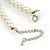 Cream Glass Bead with Silver Tone Metal Wire Element Necklace - 64cm L/ 4cm Ext - view 7
