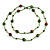 Statement Light Green Glass Bead with Brown/ Green Wood Ball Long Necklace - 145cm L - view 4