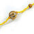 Statement Yellow Glass Bead with Brown Wood Ball Long Necklace - 145cm L - view 7