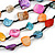 Multistrand Multicoloured Sea Shell and Black Glass Bead Necklace - 60cm Long - view 4