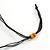Multicoloured Wood Bead Cluster Black Cotton Cord Necklace - 76cm L/ Adjustable - view 7