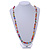 Multicoloured Resin Bead, Semiprecious Stone Long Necklace - 86cm L - view 2