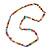 Multicoloured Resin Bead, Semiprecious Stone Long Necklace - 86cm L - view 3