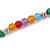 Multicoloured Resin Bead, Semiprecious Stone Long Necklace - 86cm L - view 4