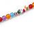 Multicoloured Resin Bead, Semiprecious Stone Long Necklace - 86cm L - view 5