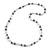 Grey/ White/ Transparent Glass Bead Long Necklace - 82cm Long - view 3
