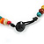 Multicoloured Button, Round Wood Bead Wire Necklace - 46cm L - view 6