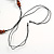 Brown Wood Floral Motif Black Cord Necklace - 60cm L/ Adjustable - view 6