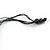 Multicoloured Wood Bead Cluster Black Cotton Cord Necklace - 80cm L/ Adjustable - view 6