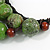 Statement Dusty Green Resin Ball, Black Rubber Cord Bib Necklace - 52cm L - view 6