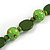 Romantic Butterfly Beaded Black Cord Necklace in Green - 56cm L - Adjustable - view 6