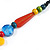 Chunky Multicoloured Resin, Ceramic, Wood Bead Black Cord Tassel Necklace - 66cm L/ 11cm Tassel - view 7