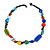Multicoloured Ceramic, Glass, Wood and Resin Beads Black Cord Necklace - 55cm L - view 7