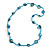 Sea Shell and Glass Bead Necklace In Light Blue - 80cm Long
