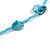 Sea Shell and Glass Bead Necklace In Light Blue - 80cm Long - view 5