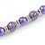 Purple Glass Bead with Silver Tone Metal Wire Element Necklace - 70cm Long - view 5