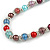 Multicoloured Glass Bead with Silver Tone Metal Wire Element Necklace - 70cm Long - view 4