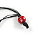 2 Strand Multicoloured Wood Bead Black Cord Necklace - 78cm Long - view 6