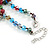 Multicoloured 3 Strand Layered Glass/ Shell Bead Necklace with Silver Tone Closure - 50cm L/ 6cm Ext - view 6