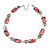 Light Grey Glass Bead, Ox Blood Shell, Cream Freshwater Pearl Necklace with Silver Tone Closure - 44cm L/ 5cm Ext - view 3