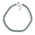10mm Classic Grey Glass Bead Necklace with Silver Tone Closure - 44cm L/ 6cm Ext - view 3