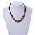 Stylish Cluster Shell and Glass Bead with Crystal Ring Necklace In Silver Tone (Multicoloured) - 45cm L/ 5cm Ext - view 2