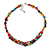 Stylish Cluster Shell and Glass Bead with Crystal Ring Necklace In Silver Tone (Multicoloured) - 45cm L/ 5cm Ext - view 3