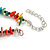 Stylish Cluster Shell and Glass Bead with Crystal Ring Necklace In Silver Tone (Multicoloured) - 45cm L/ 5cm Ext - view 6
