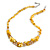 Stylish Cluster Shell and Glass Bead with Crystal Ring Necklace In Silver Tone (Yellow) - 45cm L/ 5cm Ext